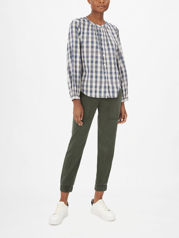 Shireen Gingham Blouse