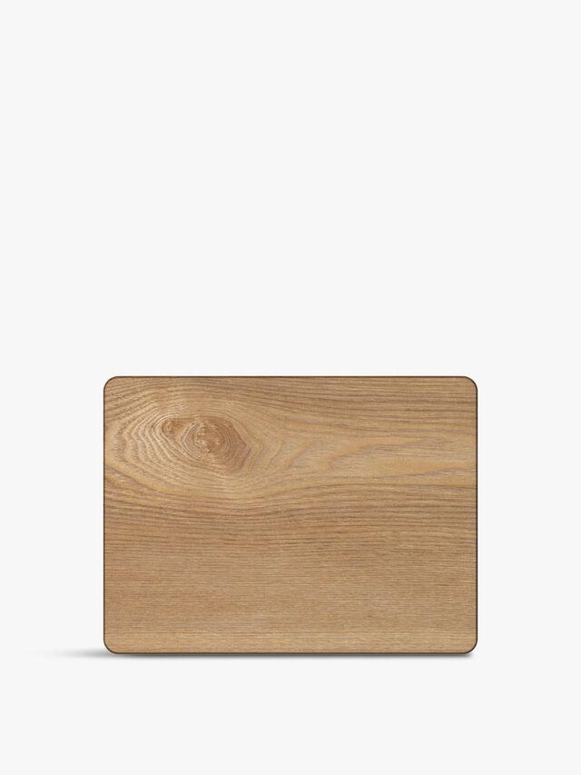 Oak Veneer Placemats Set of 4