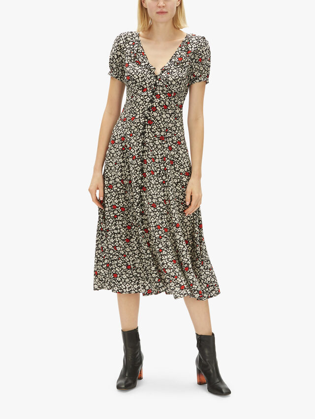 Short Sleeve Casual Midi Dress