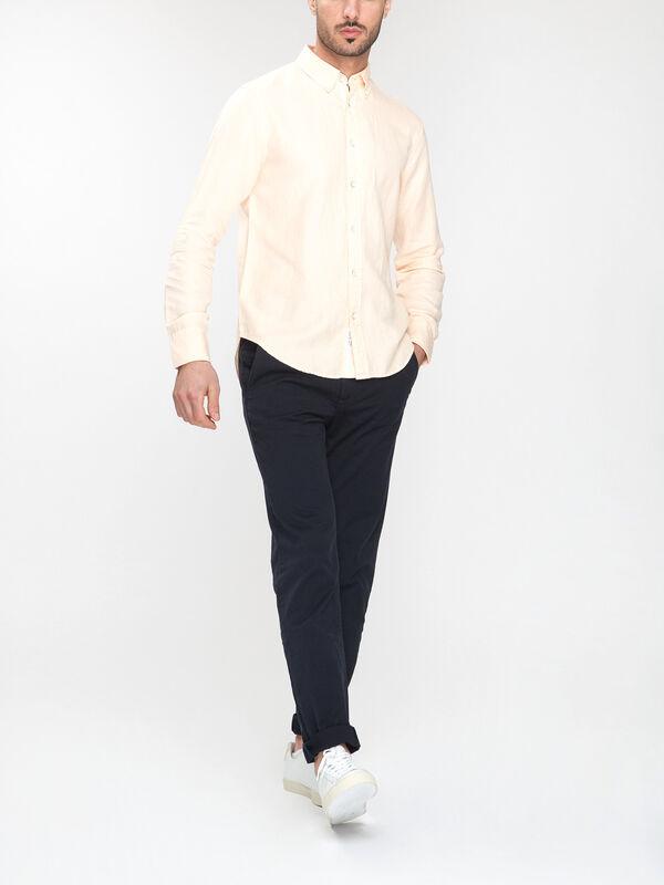Tomlin Linen Slim Fit Button Down Shirt