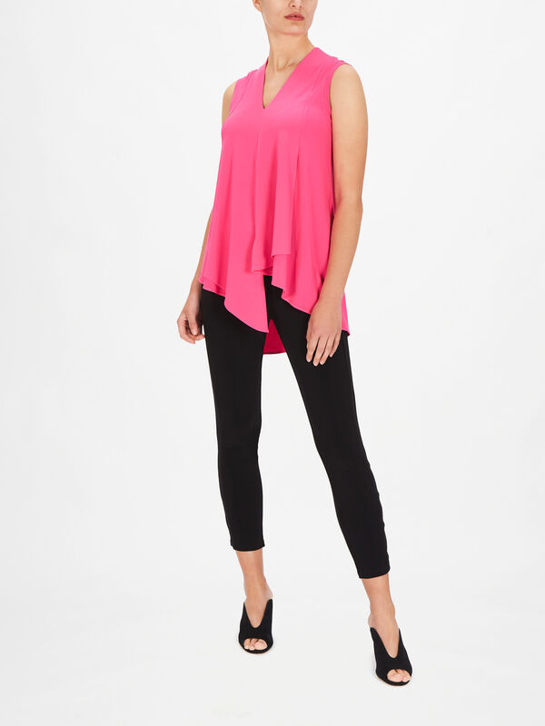 V Neck Waterfall Hem Top