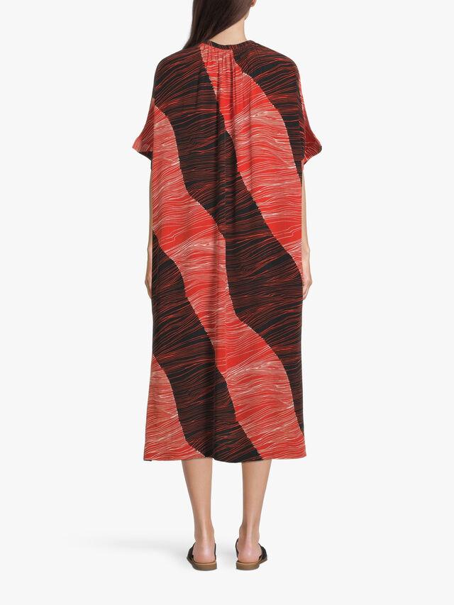 Onora Line Print Midi Shirt Dress