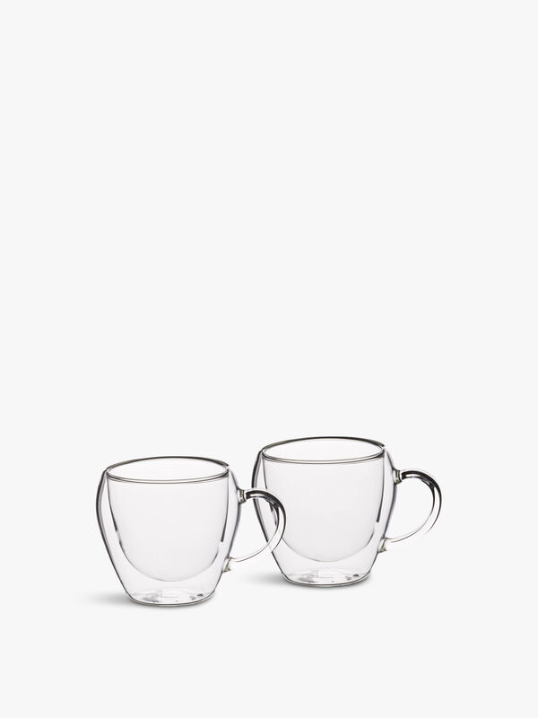 Double Walled Teacups Set of 2