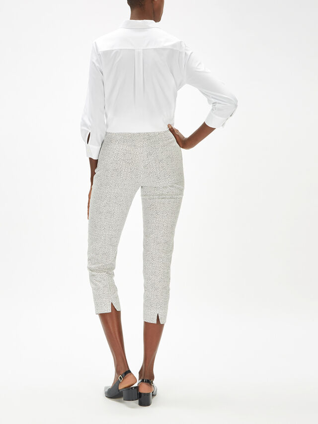 Audrey Micro Pattern Stretch Trouser