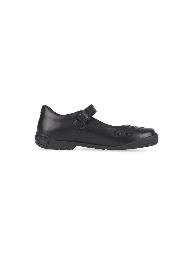 Hopscotch Black Leather School Shoes