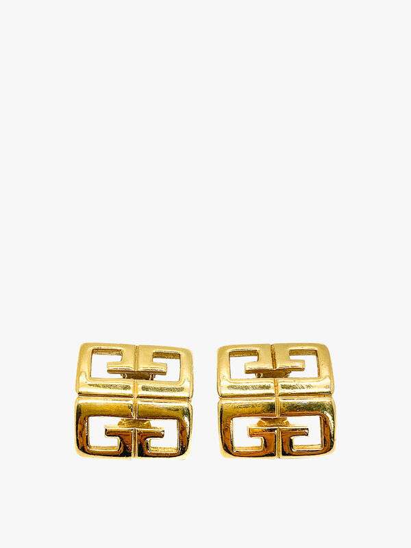 Vintage Givenchy 4G Logo Earrings