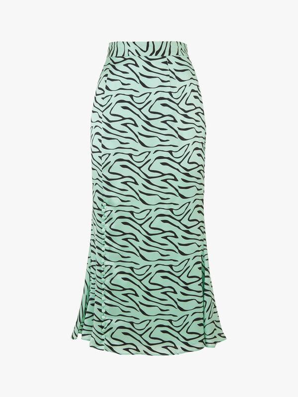 Hanna Zebra Slip Skirt