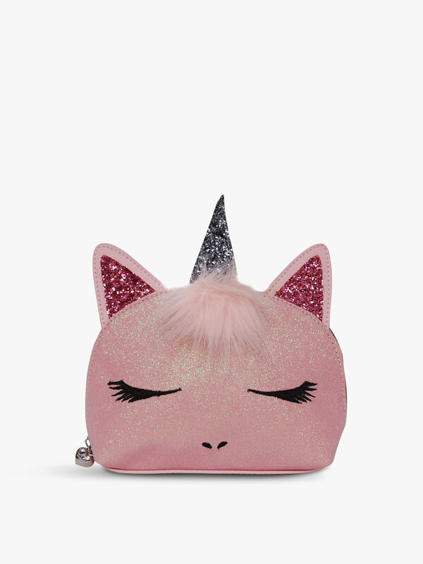 Glitter Face Unicorn Cosmetic Bag