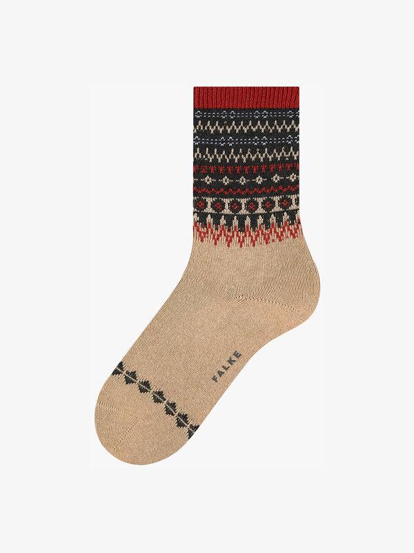 Fjord Fairisle Cuff Sock