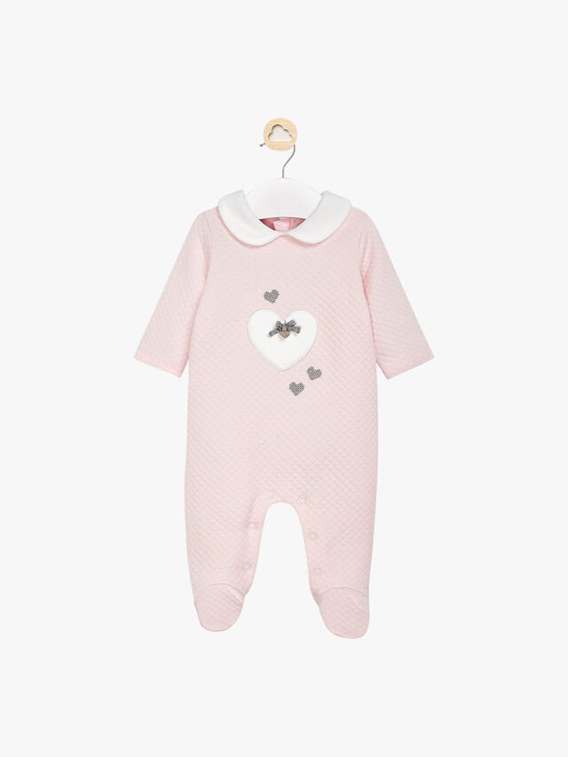 Quilted Heart Babygrow