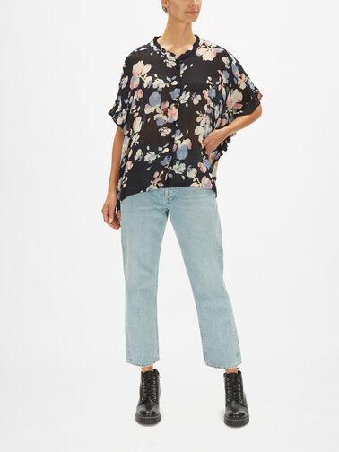 Ioya-Flower-Print-Sheer-Ruffle-Blouse-0001180121