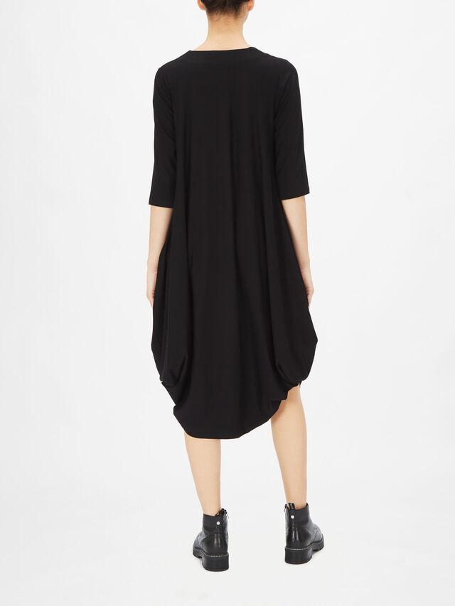 Utas Long Sleeve Bubble Hem Midi Dress