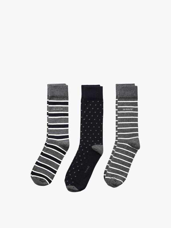 3 Pack Mixed Socks
