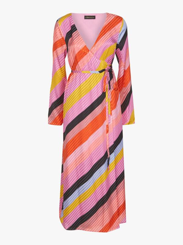 Paisley Stripe Midi Dress