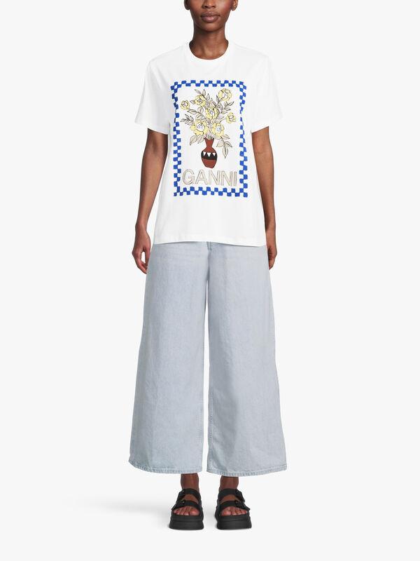 Graphic Floral Logo T Shirt