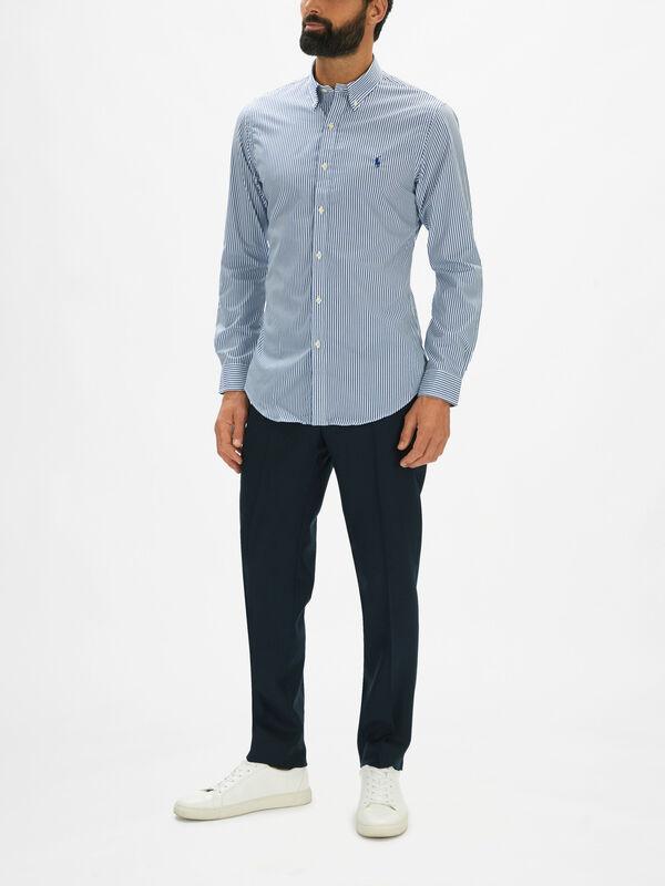 Gingham Long Sleeve Slim Fit Shirt