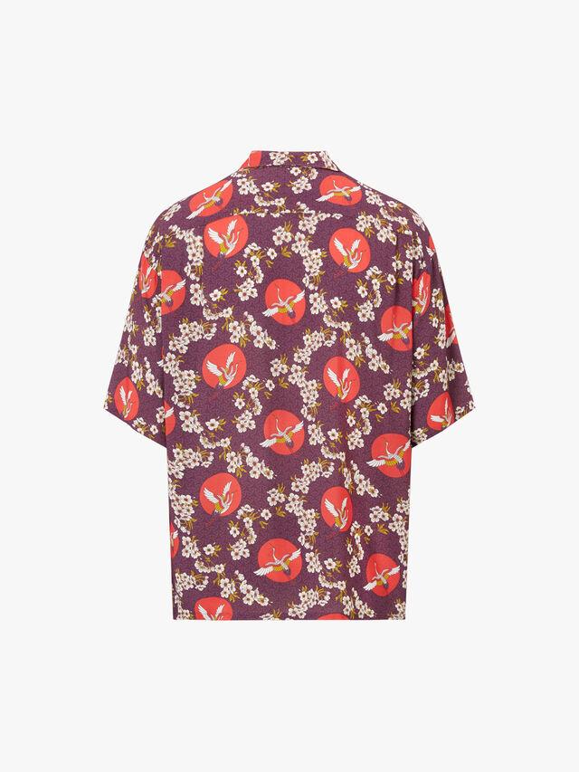 Tanchozuru Open Collar Shirt