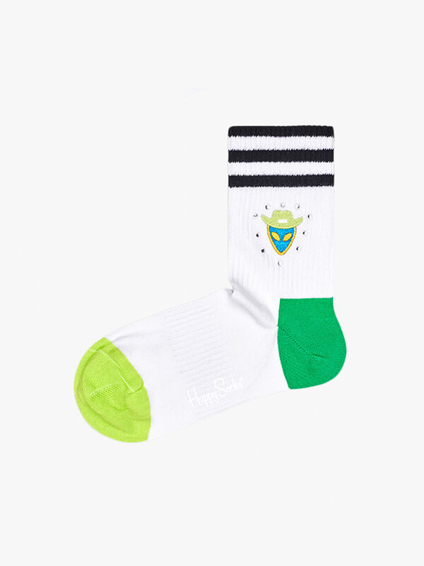 Athletic Alien Studs 3/4 Crew Sock