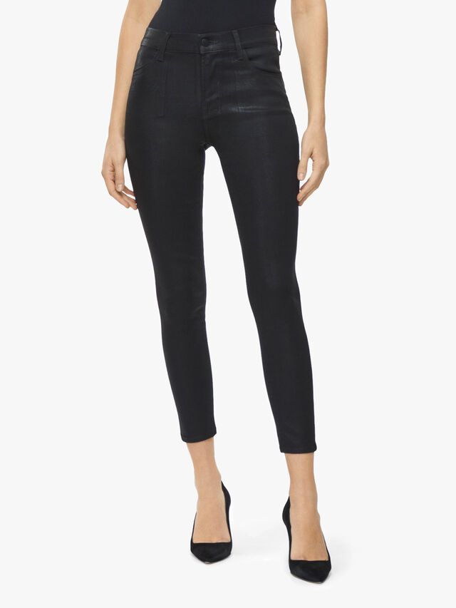 Alana Coated Skinny Crop Jeans