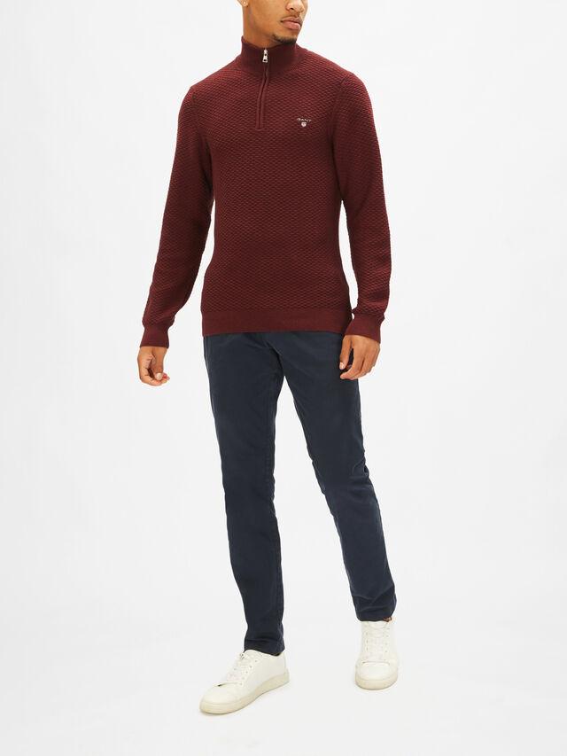 Textured 1/2 Zip Sweatshirt