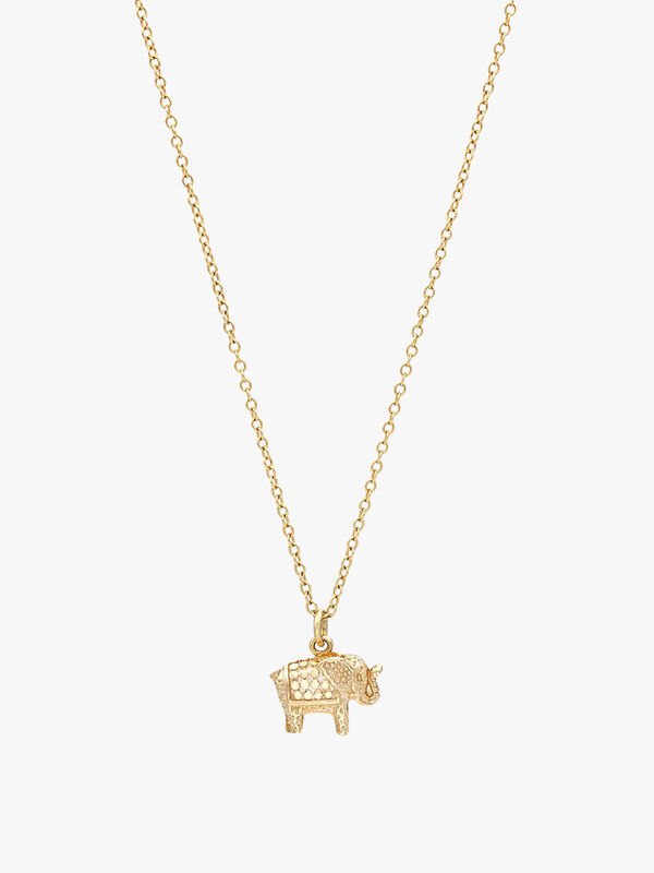 Small Elephant Charm Charity Necklace