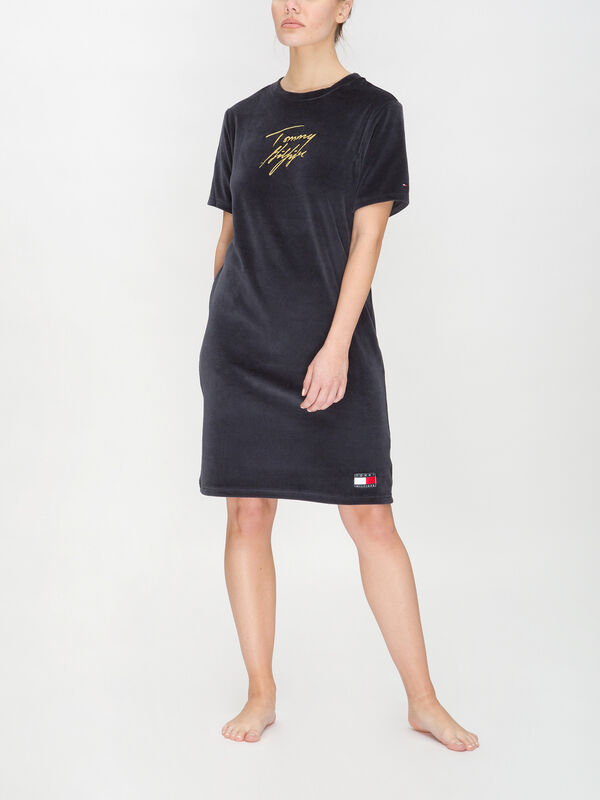 Tommy 85 Holiday Short Sleeve Gold Dress