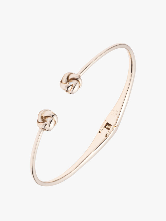 Knot Hinge Cuff Bracelet
