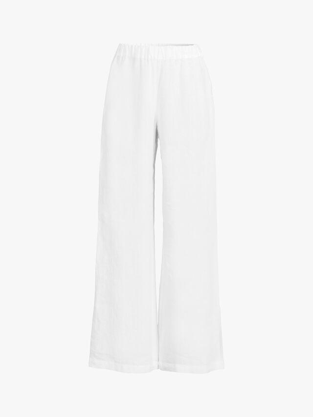 Wide Leg Flared Pull On Trouser