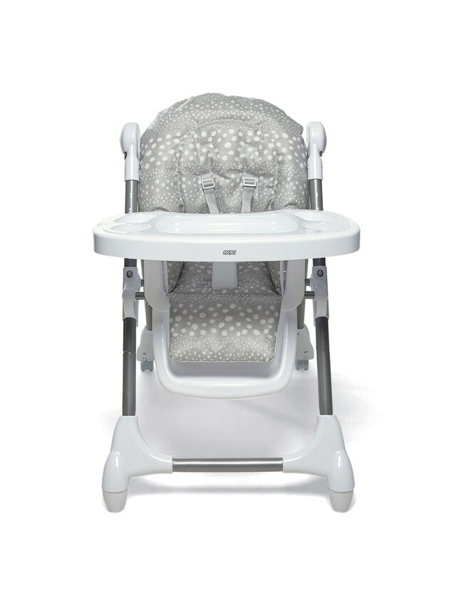 Snax Highchair Grey Spot