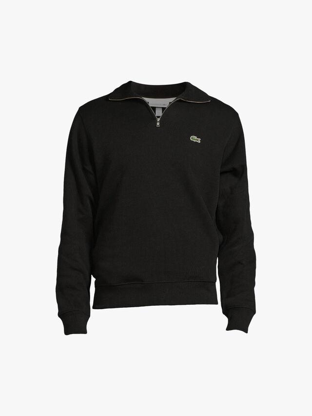 Zip Collar Cotton Sweatshirt