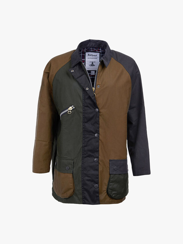 Barbour by ALEXACHUNG Patch Wax Jacket