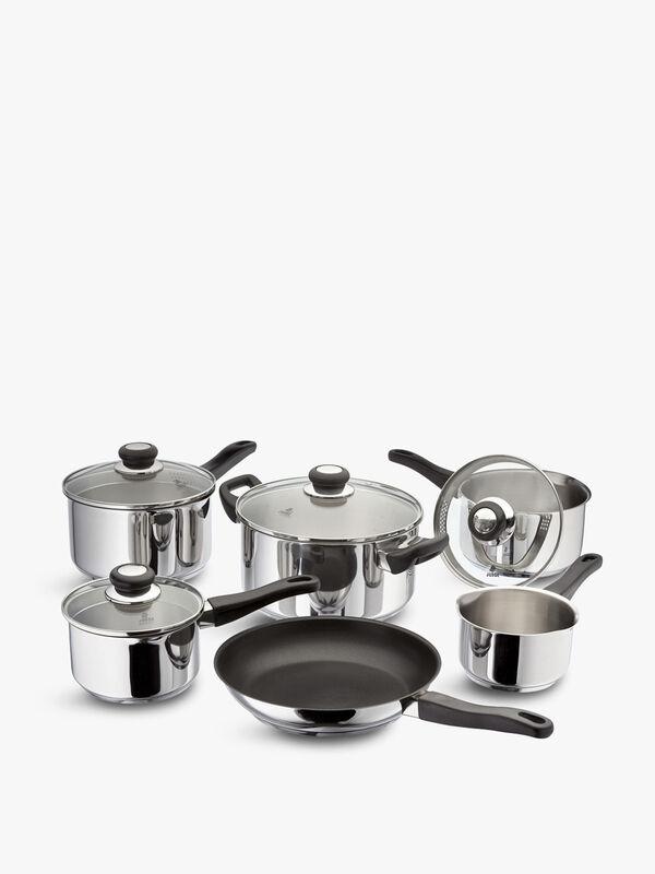6 Piece Draining Saucepan Set