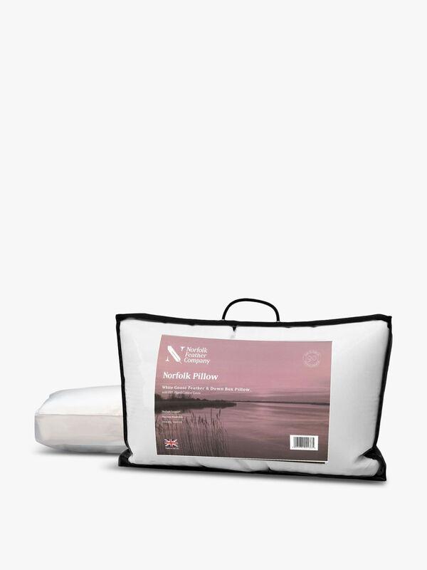 White Goose Feather & Down Box Pillow