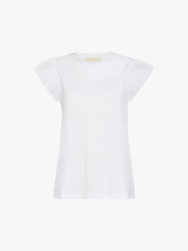 Lace Sleeve T-Shirt