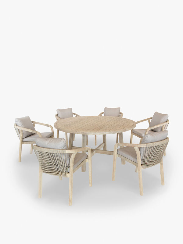 Cora Rope 6 Seat Dining Set