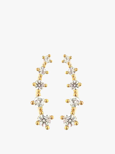 Spaced Cry Baguette Ear Climbing Studs