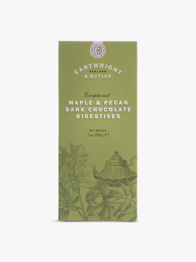 Maple and Pecan Dark Chocolate Digestives