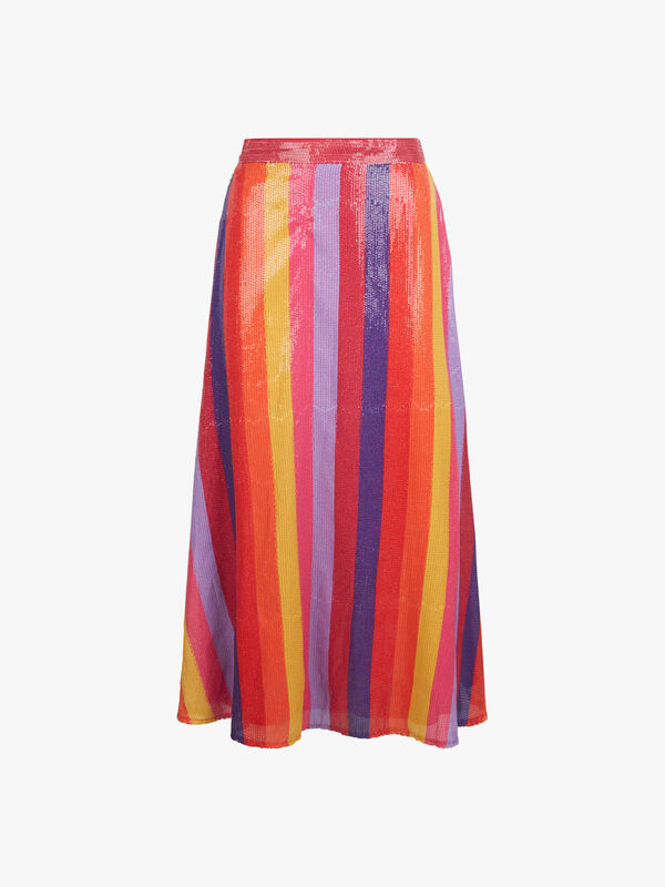 Penelope Stripe Skirt