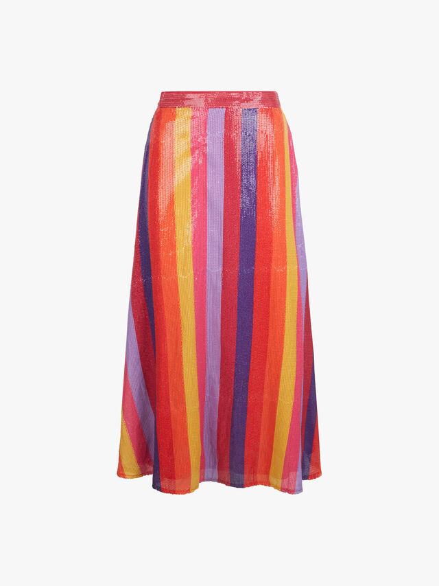 Penelope Stripe Skirt