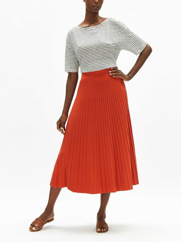 Nichel Plisse Jersey Skirt