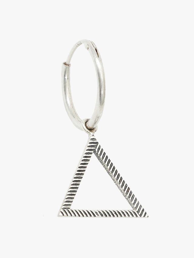 Silver Pyramid Earring