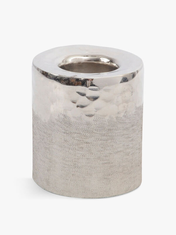 Fuse Hammered and Brushed Small Tealight Holder