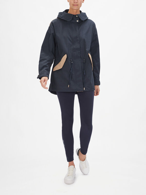 Olivia Colour Block Parka Coat