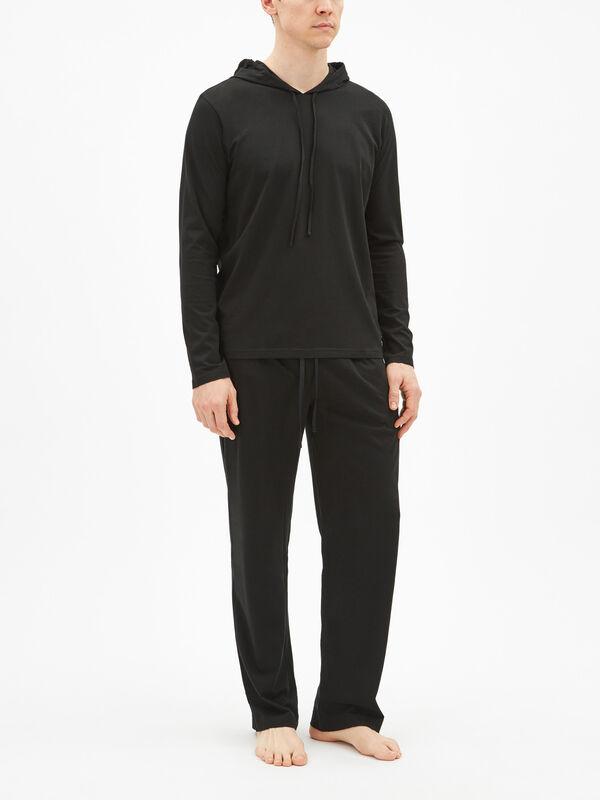 Long Sleeve Hooded Pyjama Top
