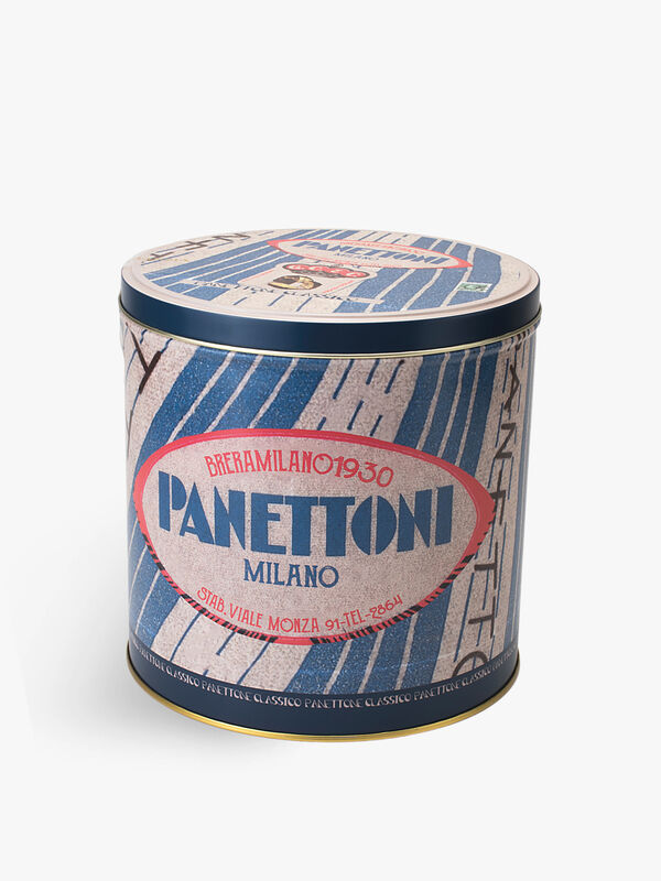 Traditional Panettone in a Tin