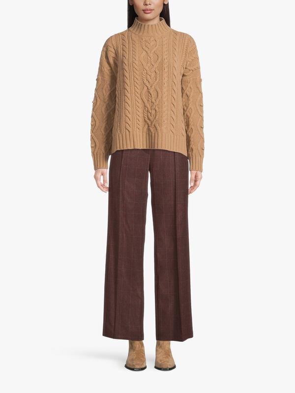 Ermes High Neck Cable Knit