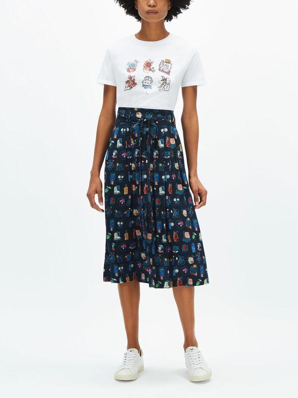 Fenwick Exclusive Printed Midi Skirt