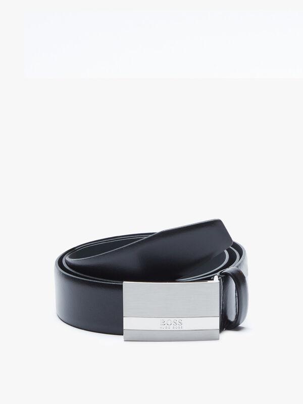 Baxton Branded Plaque Buckle Belt
