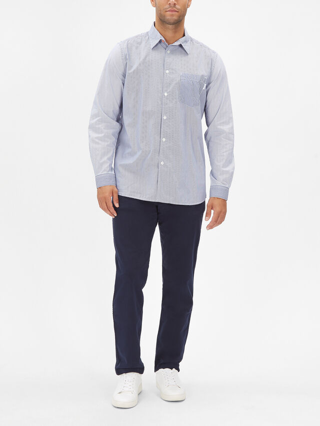 Long Sleeve Stripe Casual Shirt