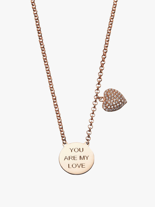You Are My Love Heart Necklace